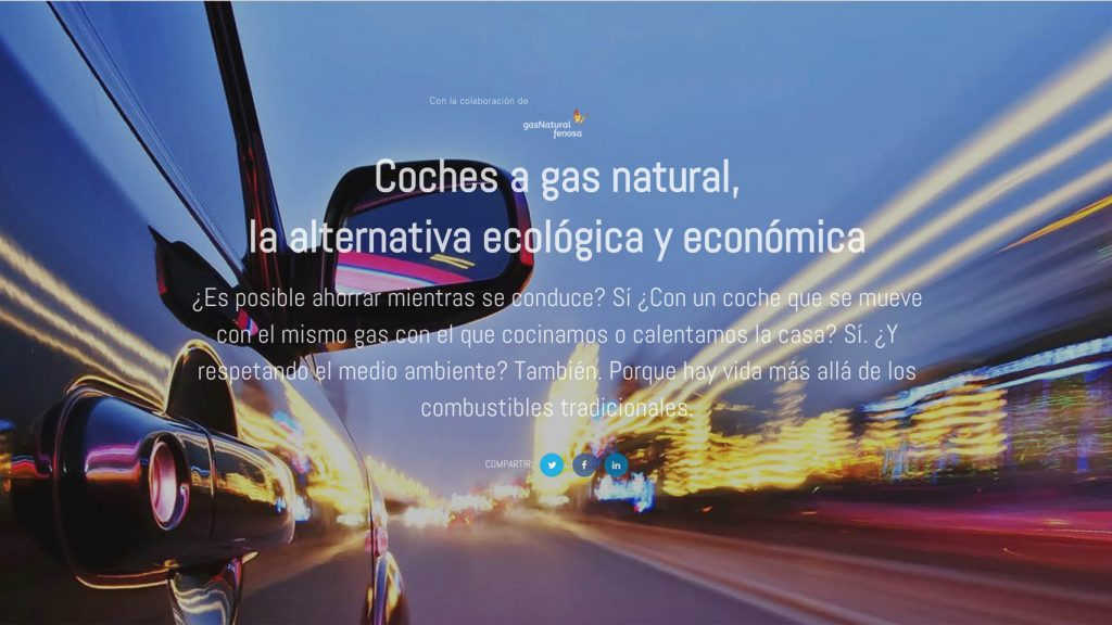 1. Coches a gas natural. Branded Content para Gas Natural Fenosa